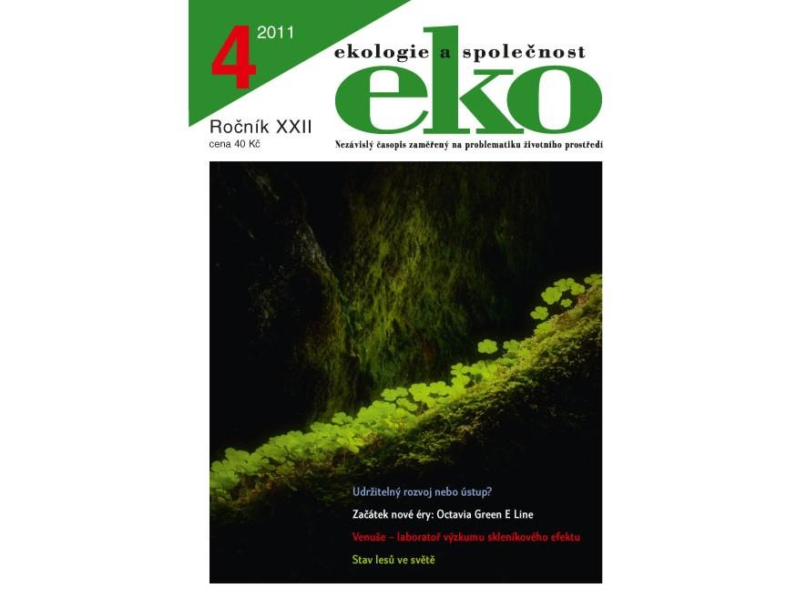 Obal časopisu eko 4 2011 digitální agenda pro evropu a eenvironment